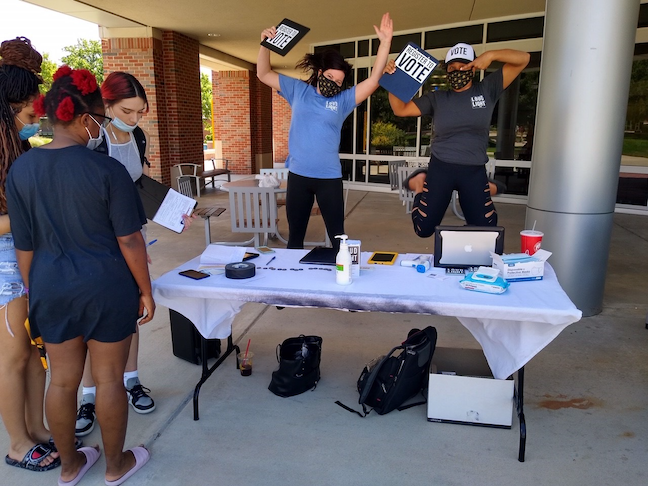 Wichita State University's Shockers Vote! initiative features virtual round-tables and voter-registration drives to blend civic learning and political engagement among students.