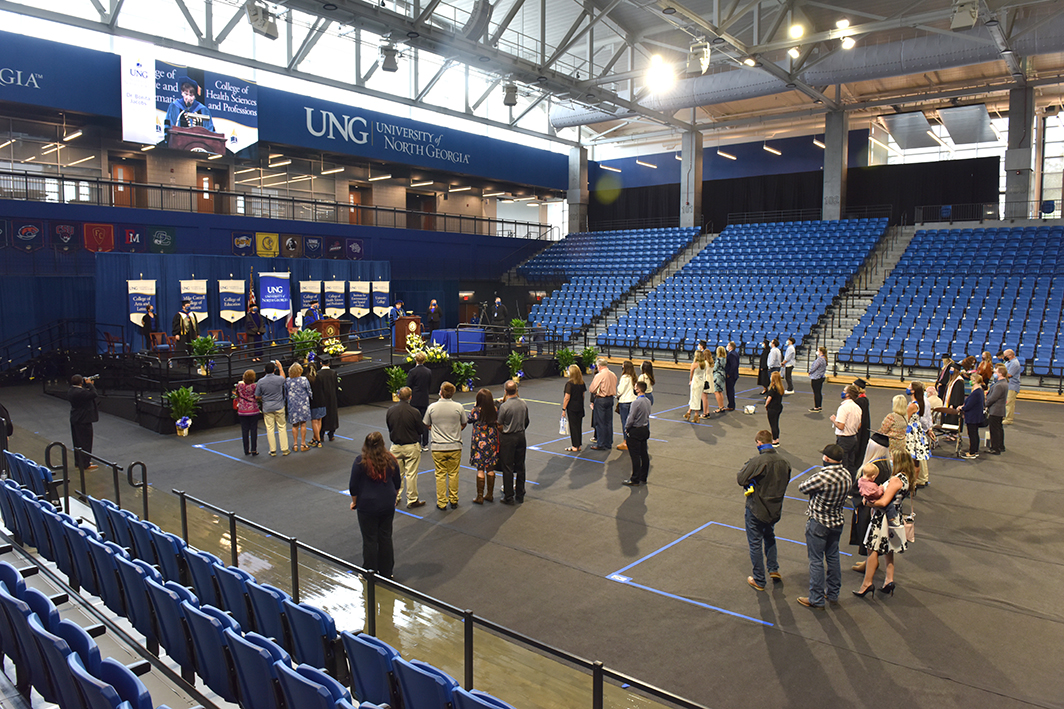 About 400 University of North Georgia's (UNG) spring and summer graduates and their families celebrated their accomplishments in a quartet of commencement ceremonies held Sept. 19-20.