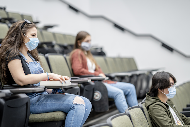 More than half of college students say they have confidence in their school's COVID safety measures, but they worry about parties are career prospects. (GettyImages/FatCamera)