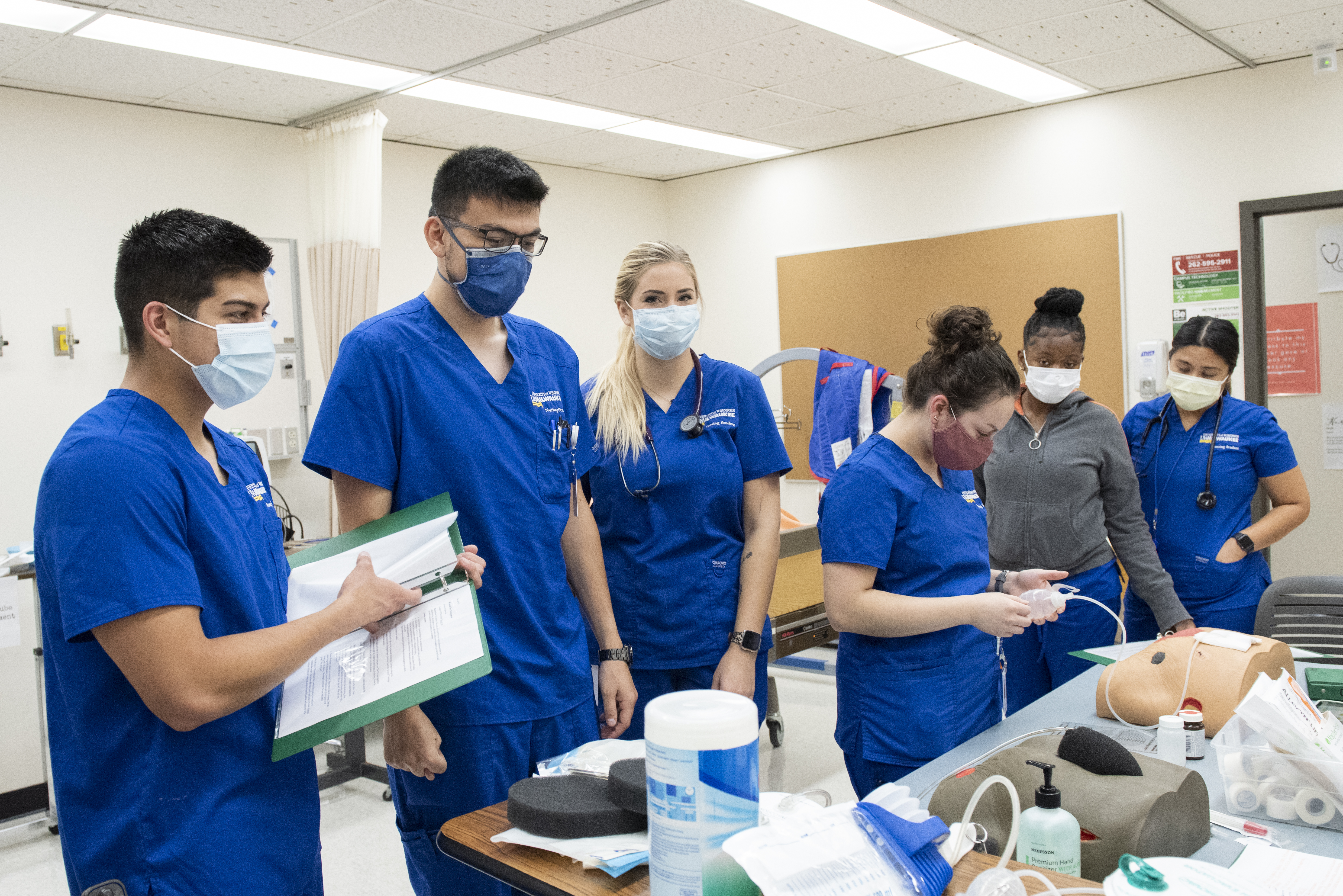 Students in their first clinical semester in the University of Wisconsin-Parkside's nursing program. The university is launching several initiatives to accelerate equity. (Photo: Alyssa Nepper)