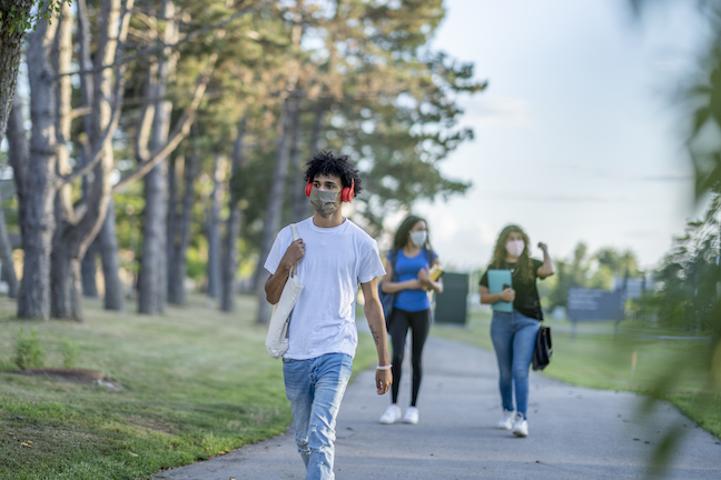 Only 9% of college students said they would go to a large party right now, and 54% said it would be at least another year before they attened one. (GettyImages/FatCamera)
