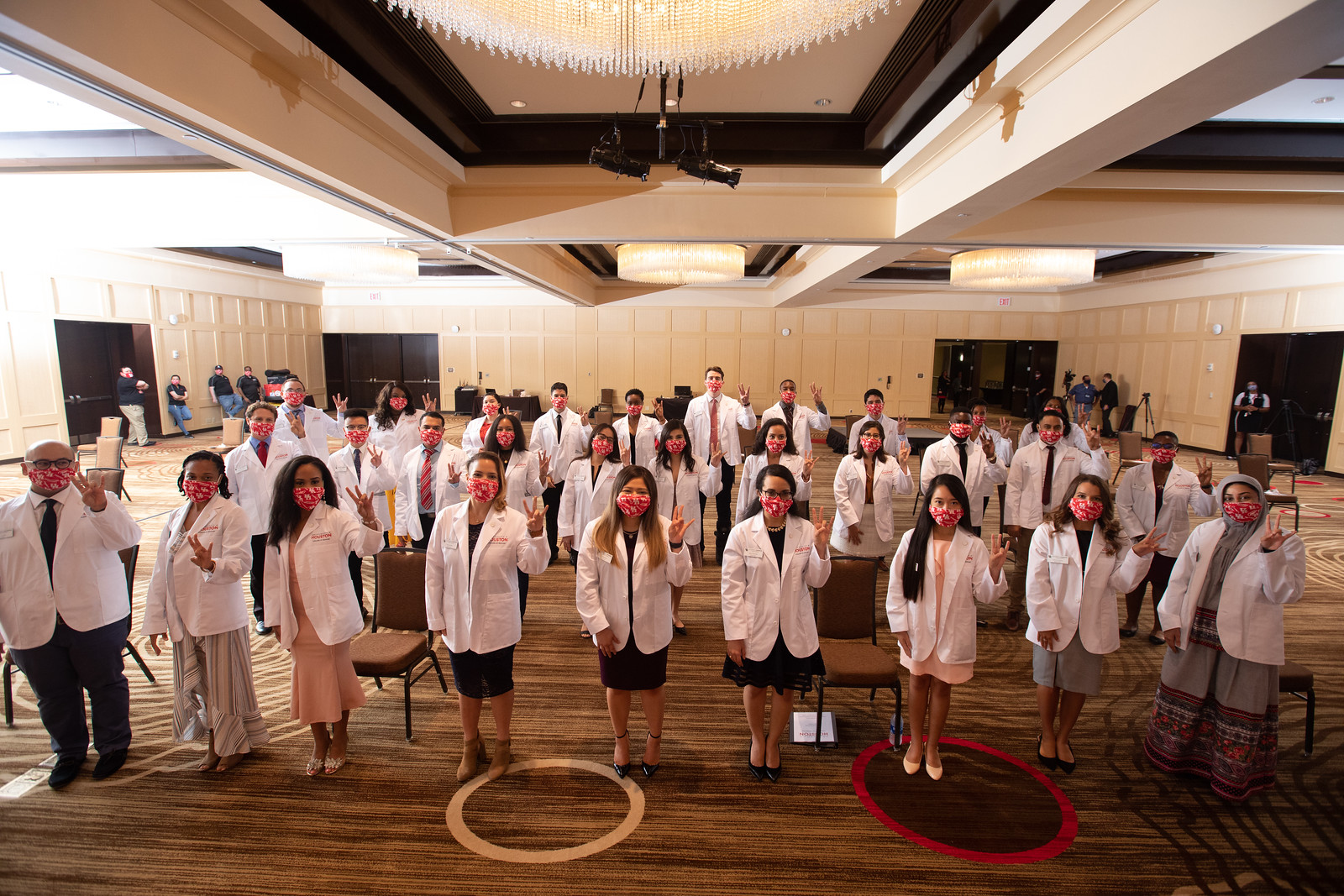 The University of Houston's College of Medicine holds a white coat ceremony to welcome its first incoming class on August 8, 2020.