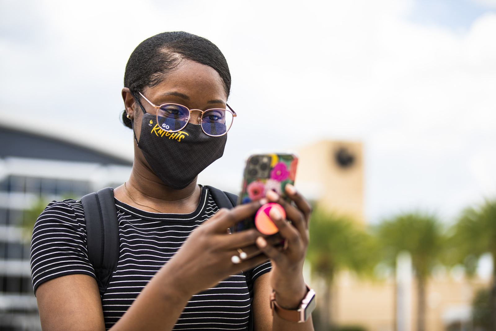 UCF Student on Phone