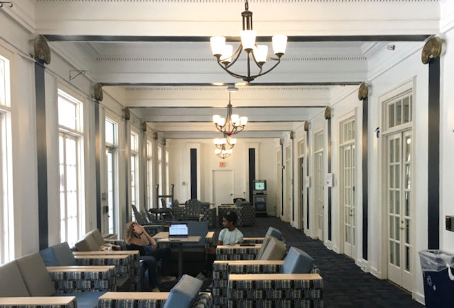 The George Washington University acted quickly to upgrade the corridors of the highly trafficked Mitchell Hall.