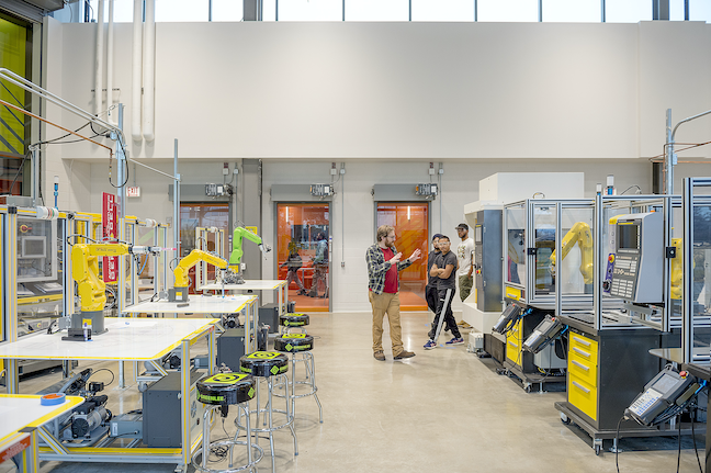 The Daley College Manufacturing, Technology and Engineering Center at City Colleges of Chicago functions as a hands-on maker, exploration and learning space for students studying engineering and advanced manufacturing fields