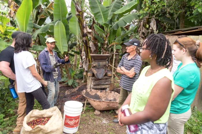 Lycoming College, purchases coffee from Dominican coffee farmers who host yearly May term classes and sells ito subsidize student travel.
