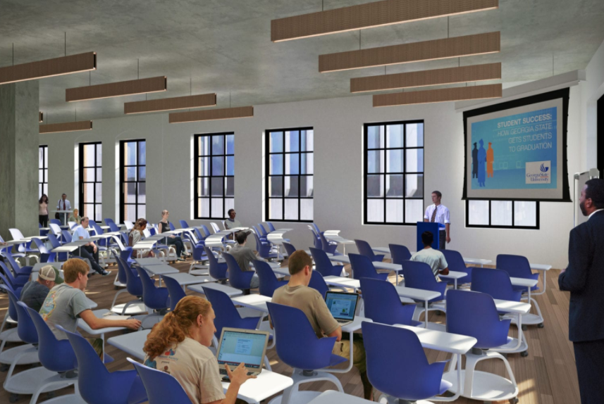 A computer rendering of the National Institute for Student Success that Georgia State University will building in downtown Atlanta.