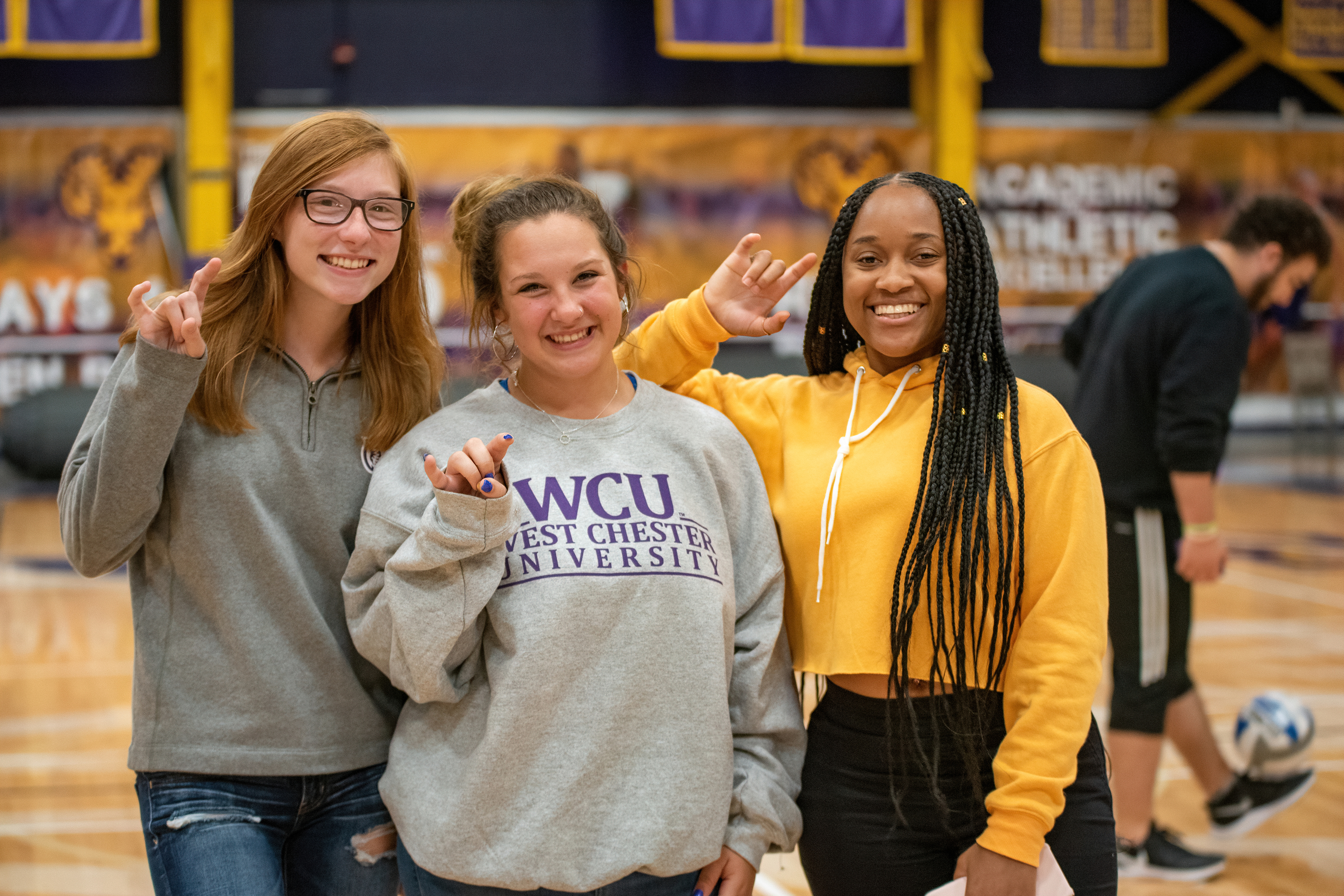 A fall semester pep rally at West Chester University.