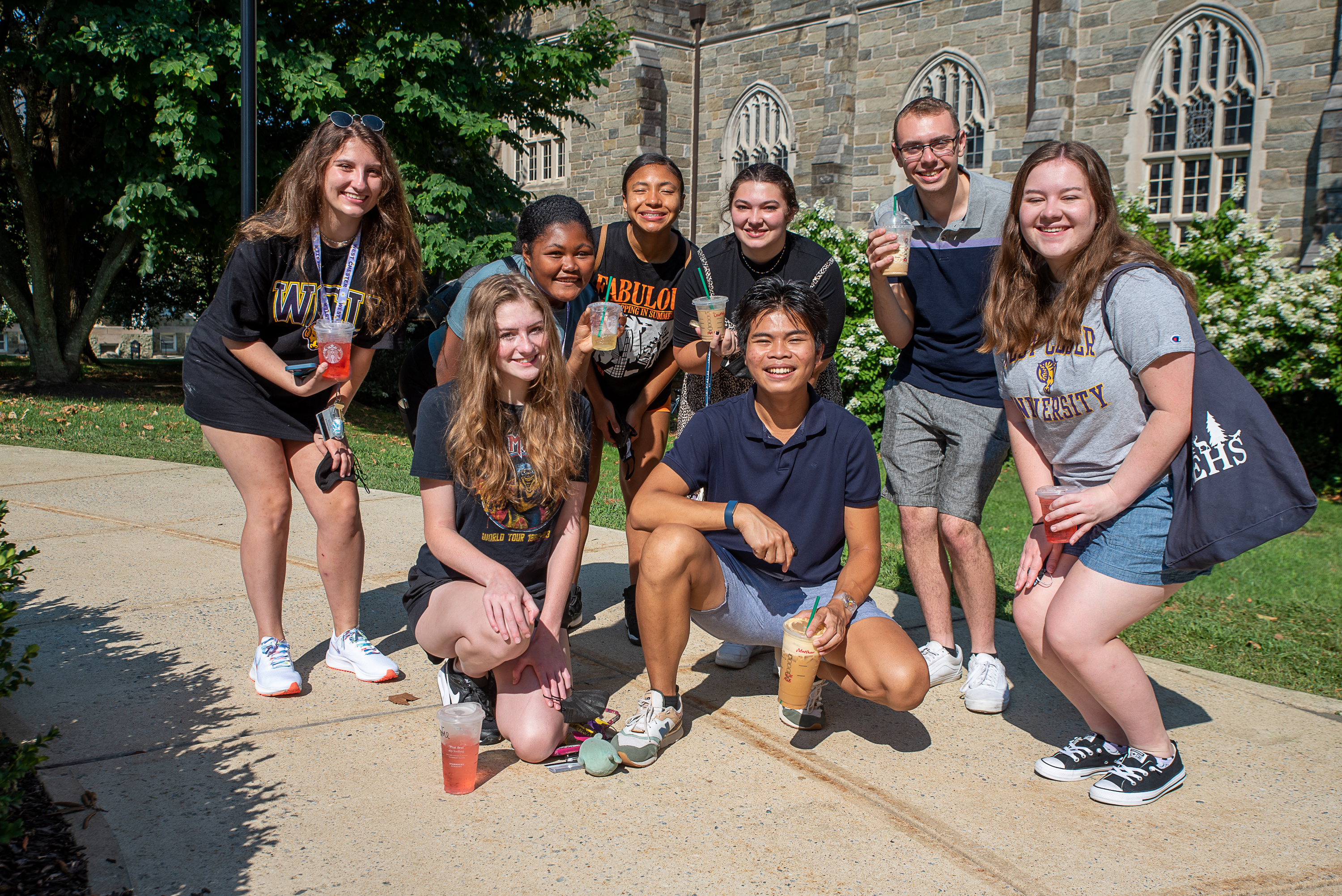 Campus life at West Chester University.